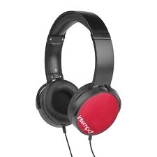 Intempo Dynamic Over Ear Stereo Music Headphone Adjustable Padded Headset Red