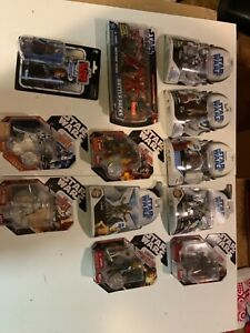 Clone wars Star Wars figures lot obi wan darth maul plo kloon gen grievous