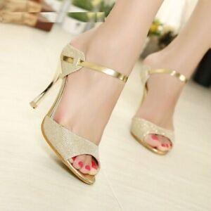 Women Pumps Stiletto High Heels Peep Toe Rubber Wedding Shoes Thin Heels Party