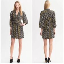 BANANA REPUBLIC Issa London Collection Zebra Kimono Dress, Size 6
