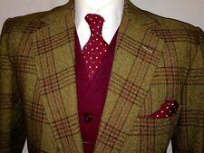 Vintage Mens Tweed Glen Plaid Check Suit Jacket Blazer Keepers Harris Style 42 S