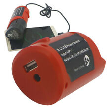 Usb adapter Charger Use Milwaukee M12 Power Tools Batteries Power Bank to phone