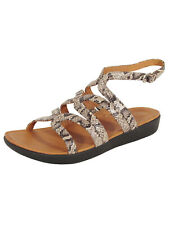 Fitflop Womens Strata Gladiator Snake Effect Leather Sandal