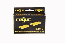 25.000 Regur 53 / 10 mm Heftklammern *** Top Preis für 5 Schachteln, Tackernadel