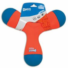 Chuckit TRI BUMPER Dog Fetch Toy Large Boomerang Choose to Tug Toss or Bounce