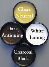 Chalk Furniture Paint Wax Kit 4 Colors of All Natural Wax Samples In 4 oz Jars