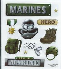 MARINES Military Scrapbook Stickers
