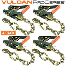 """Vulcan ProSeries Chain and Hook Ratchet 2"""" 3,300 Pound Working Load - 4 pack"""
