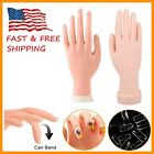 Nail Art Training Hand Flexible Movable Fake Hand Manicure Practice Tool