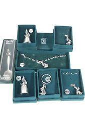 Lot Of (7) Vintage Fort Pewter Goofy Disney Collection- Necklace, Bracelet +