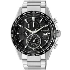 Citizen Radio Controlled Eco-Drive Chrono Uhr Titan Datum Silber AT8154-82E