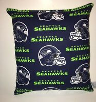Seahawks Pillow Seattle Seahawks Pillow NFL Pillow HANDMADE  In USA