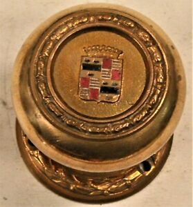 Vintage BOOK CADILLAC Brass Door Knob w. Escutcheon architectural hotel DETROIT