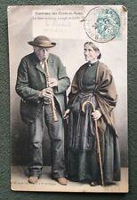CPA. CORLAY. 22 - Le vieux Musicien Aveugle de Corlay. 1907. Rare. Mendicité.