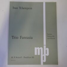 TCHEREPNIN trio fantasia , violin / cello piano belaieff 623