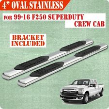 """For 99-16 Ford F250 Superduty Crew Cab 4"""" running boards side step Nerf Bar Oval"""