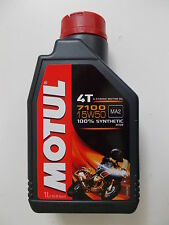 MOTUL ENGINE OIL 7100 4T 15W-50 MA2 ESTER 100% SYNTHETIC bottle of 1 LITRO