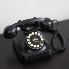 Black Grand Phone Flash Redial Push Button Vintage Style Retro Telephone