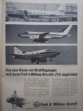 5/59 PUB PRATT & WHITNEY AIRCRAFT JT12 ENGINE JETSTAR SABRELINER M119 GERMAN AD