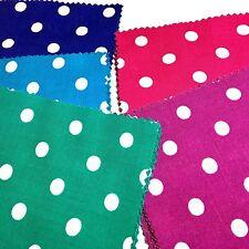 "Polka Dot Rainbow Charm Pack: 60 - 5"" Squares Violet Purple Blue Pink Jade Green"
