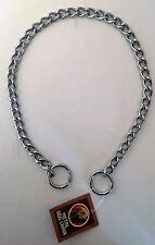 Chrome Dog Training Choker Chain Slip Collar 58.5cm x 3mm Heavy Duty Gauge