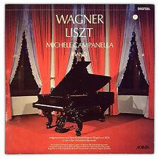 LP - WAGNER  LISTZ - Michele Campanella PIANO - ACANTA RECORDS 1985