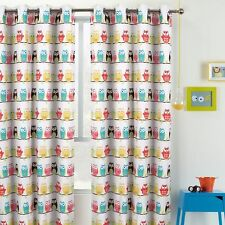 Owls Kids Children's Window Curtain Blockout Coated Bedroom Playroom 1 PANEL