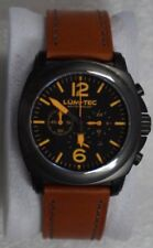 NEW Lum-Tec M series M73-S Military PVD Black Chronograph Watch Dealer Warranty