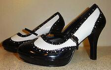 Funtasma Contessa Mary Jane High Heel Shoes 10 Retro Rockabilly Pin Up gangster