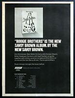 "1974 Savoy Brown ""Boogie Brothers"" Album Release vintage print ad"