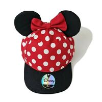 Disneyland Minnie Mouse Toddler Baseball Cap with Ears and Bowtie Size 0-1- NWOT