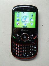 Pantech Jest 2 TXT8045VW Verizon 3G Cellular Phone QWERTY Camera Bluetooth CLEAN