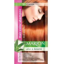 Marion Hair color shampoo sachet (lasting 4-8 washes) Aloe & Keratin 91
