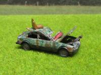 H0 1:87 Opel Kadett Schrottplatz Scheunenfund Wrack Laser Cut Gealtert Rost #21