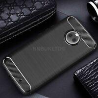 For Motorola Moto X4 Carbon Fibre Gel Case Cover Shockproof Ultra Slim