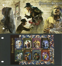 More details for jersey famous people stamps 2020 mnh charles dickens writers 8v m/s pres pack
