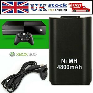 For Xbox 360 Wireless Controller Battery Pack Rechargeable + Charger Dock Cable