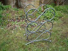 Metal 6 Bottle Wine Rack Kitchen Garden Strawberry pot Plant holder Upcycle