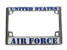 Air Force Motorcycle License Plate Chrome Metal Frame United States
