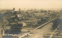 c1910 Havre Montana Birdseye View Homes Business District RPPC Photo Postcard