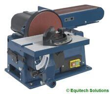 """Sealey Tools SM14 Wood 4"""" Belt 6"""" Disc Sander Bench Mounting Woodworking 230V"""