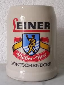 Bierkrug Krug Humpen Sammelkrug 0,5 Liter Leiner Flößer Bier Förtschendorf