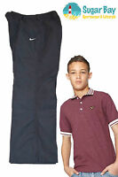 New Nike Boys Lightweight Cotton Track Casual Wear Trousers Grey M Age 10-12 Yrs
