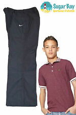 Nike Boys Lightweight Cotton Track Trousers M Age 10-12 Years Charcoal Grey