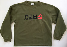 BOY London Mens Green Hacker Communist Hammer and Sickle Sweatshirt Sz M NEW