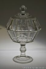 c. 1883 RIVAL AKA SPRIG by Bryce, Higbee & Co CLEAR Compote w/Cover