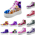 Womens Fashion Hi Top Trainers Flat Platform Running Sneakers Comfortable Shoes