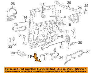 GM OEM Side Sliding Door-Roller & Bracket Right 15949644