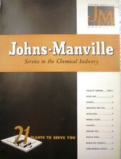 Johns-Manville BLUE AFRICAN ASBESTOS Service to Chemical Catalog 1948