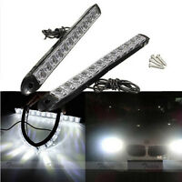 2x12LED White Flexible Car DRL Daytime Running Light Driving Fog Light Lamp 12V